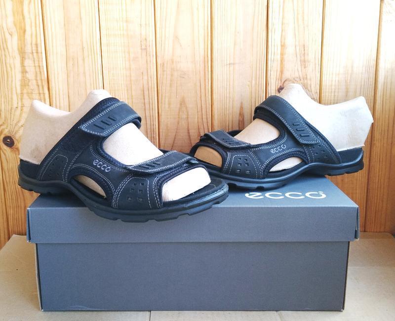Комфортные кожаные новые сандалии ecco босоножки шлепанцы ориг... - Фото 2