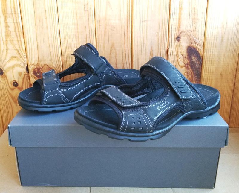 Комфортные кожаные новые сандалии ecco босоножки шлепанцы ориг... - Фото 3