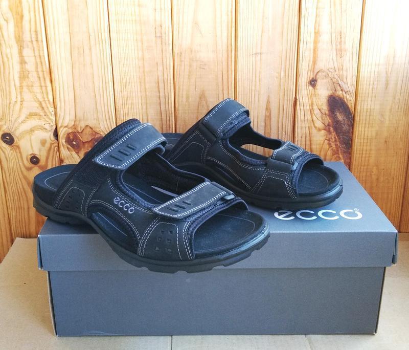 Комфортные кожаные новые сандалии ecco босоножки шлепанцы ориг... - Фото 4