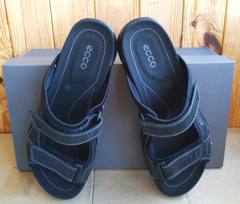Комфортные кожаные новые сандалии ecco босоножки шлепанцы ориг... - Фото 6