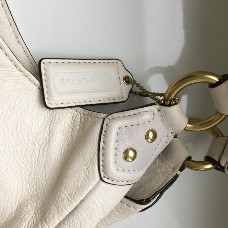 Брендовая кожаная сумка coach. - Фото 7