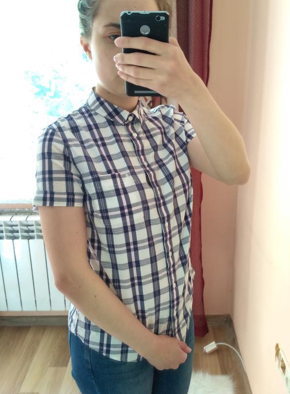 Рубашка в клетку с коротким рукавом британского бренда jack wi...