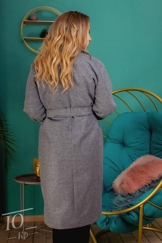 Пальто кашемировое батал женское - Фото 3