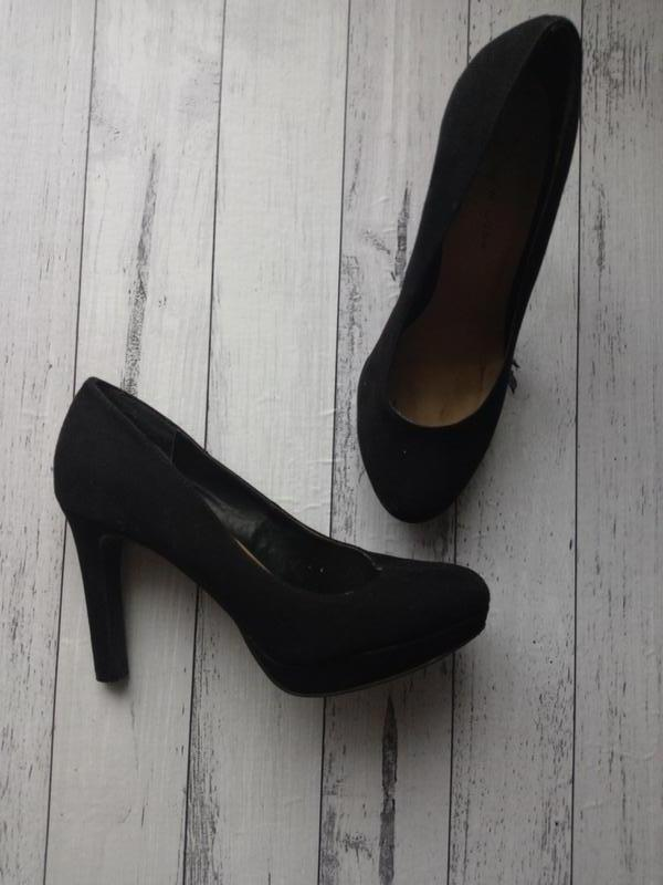 Туфли на широкую стопу, текстиль под замшу - Фото 2