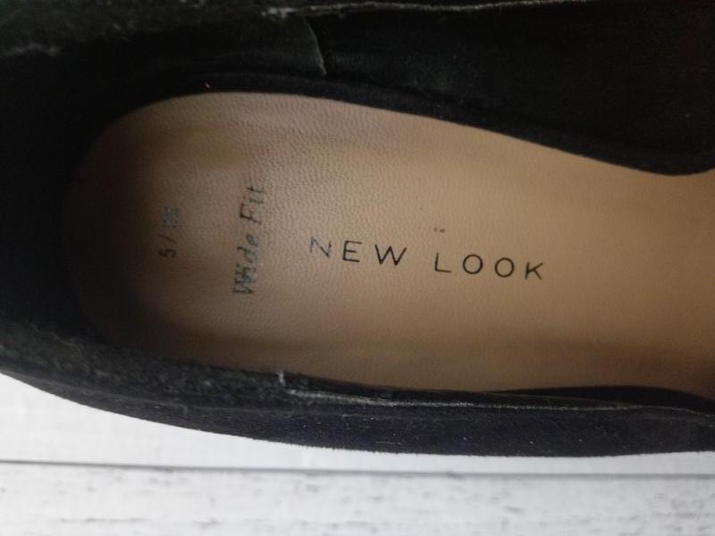 Туфли на широкую стопу, текстиль под замшу - Фото 3