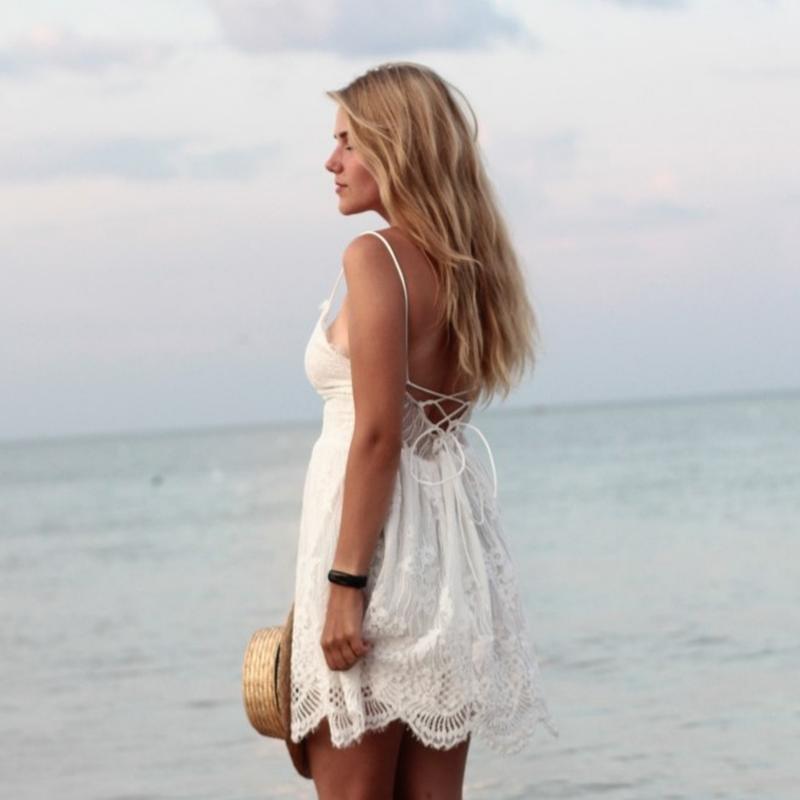 Шикарное женское кружевное платье, белое платье - Фото 2
