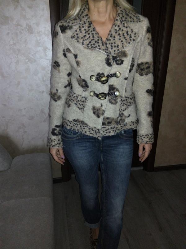 Италия,👑 шерстяной трендовый пиджак-кардиган-пальто(кофта, бле...