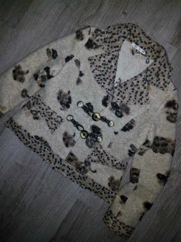 Италия,👑 шерстяной трендовый пиджак-кардиган-пальто(кофта, бле... - Фото 7