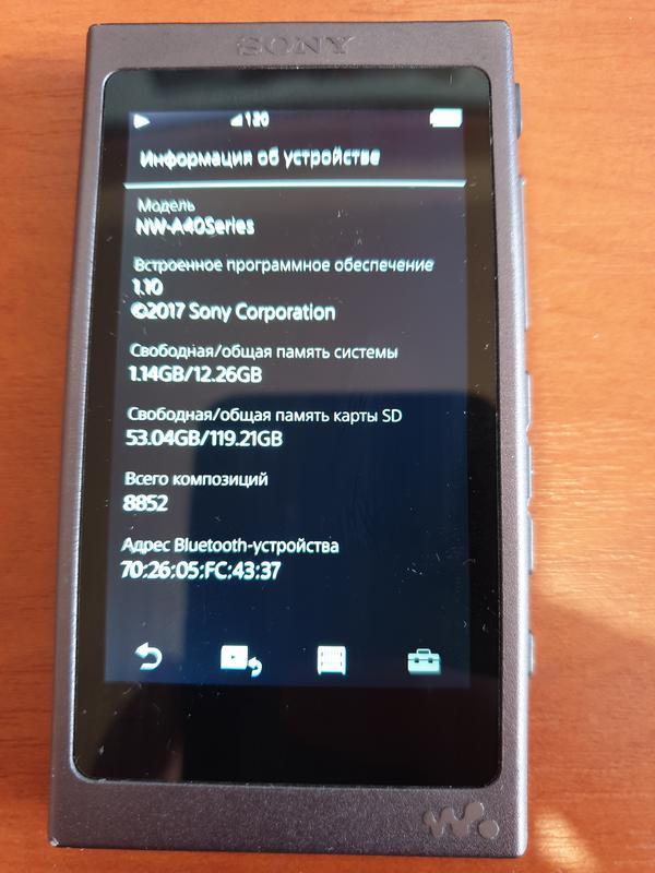 Плеер SONY Walkman NW-A45 16GB в идеале! + карта памяти 128GB - Фото 6