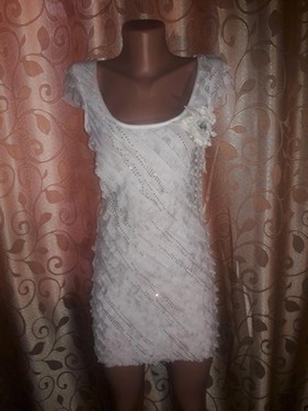 ✨👗✨красивое женское платье с рюшами, воланами🔥🔥🔥