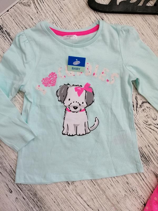 Милый яркий костюм для девочки с собачкой от pepco - Фото 2