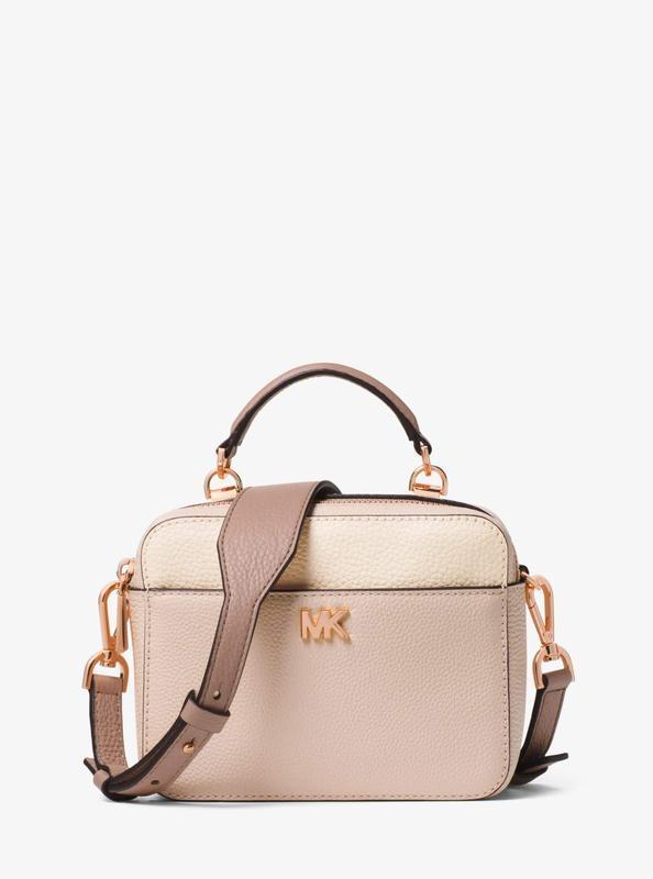 Кожаная сумка michael kors mott mini с широким плечевым ремнем... - Фото 4