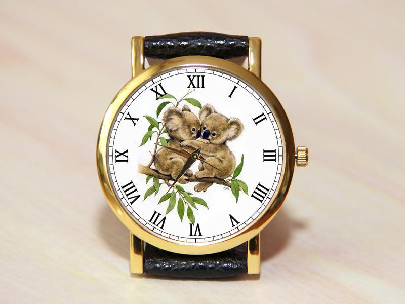 Часы коала, женские часы, детские часы, уникальные часы