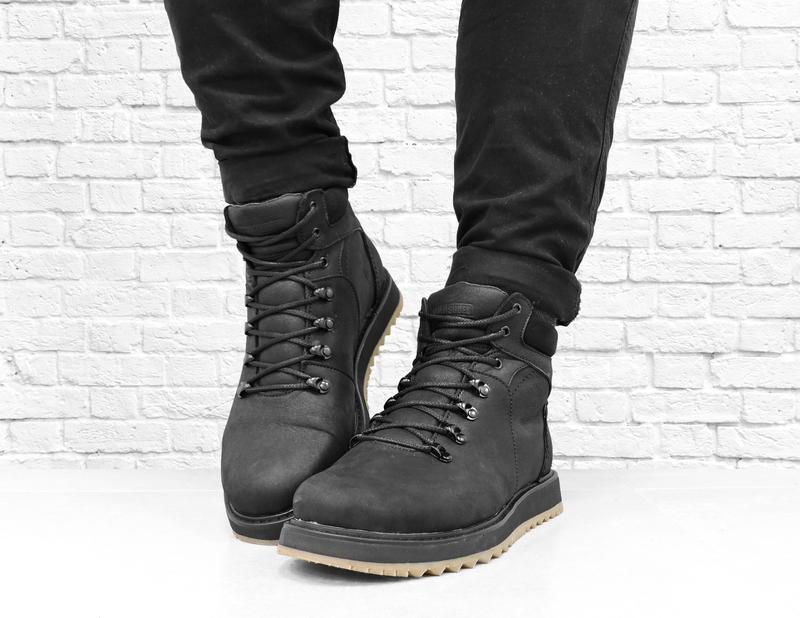 Зимние мужские кожаные ботинки boomer. черные. - Фото 3