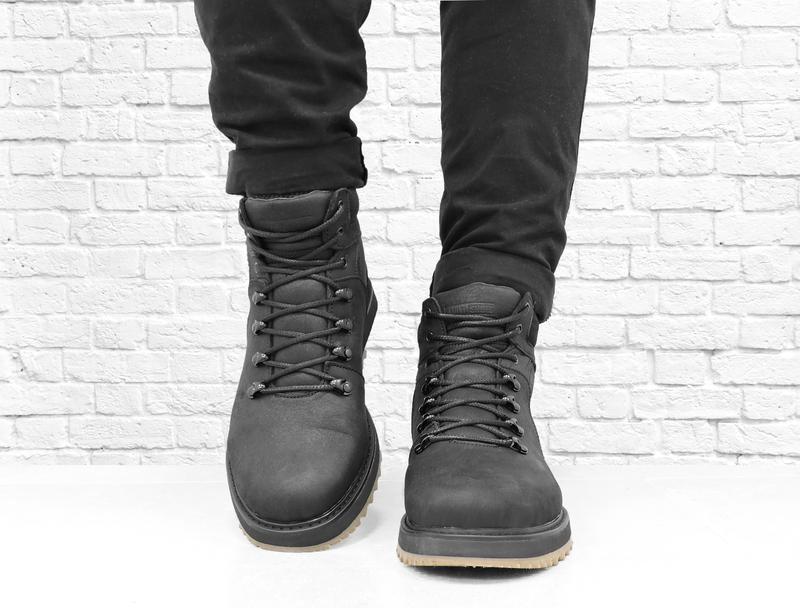 Зимние мужские кожаные ботинки boomer. черные. - Фото 4