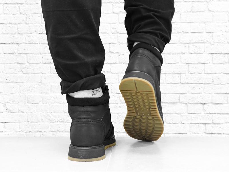 Зимние мужские кожаные ботинки boomer. черные. - Фото 7