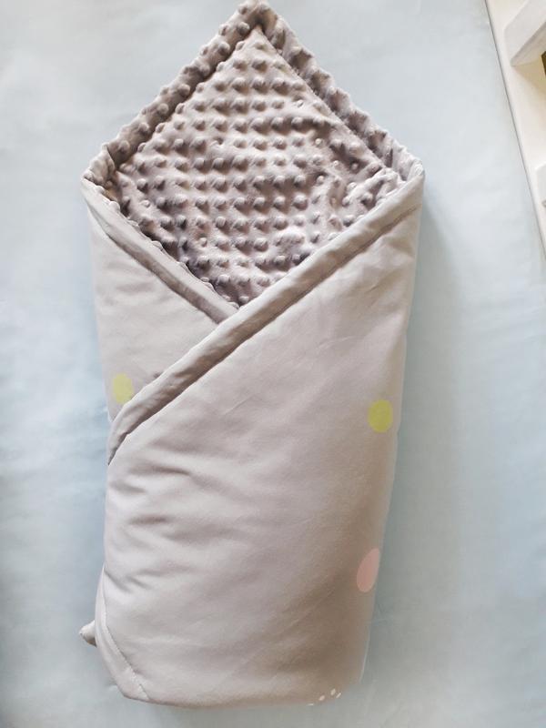 """Плед конверт с плюшем в коляску или кроватку """"лисенок"""" - Фото 3"""