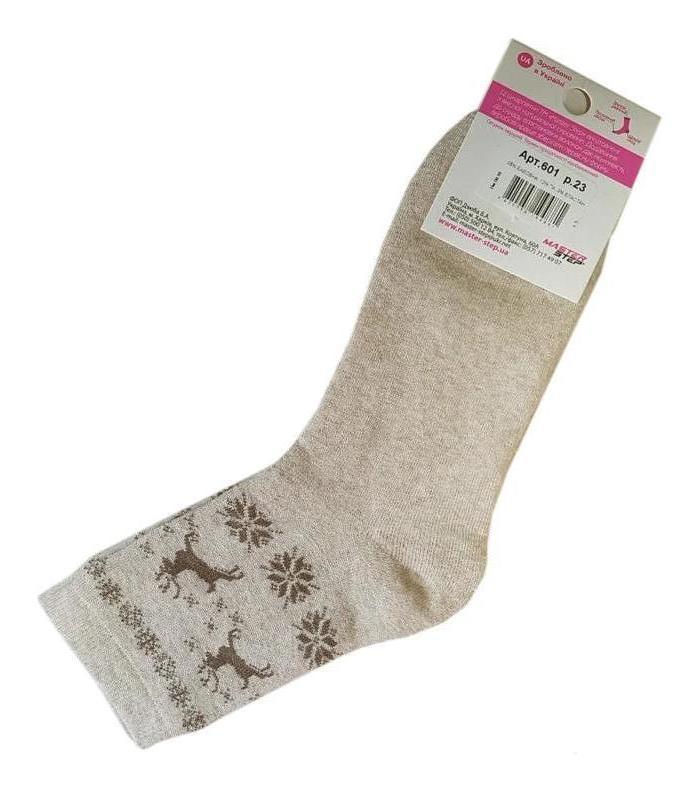 Носки женские махровые, размер 23 / 35-37р.