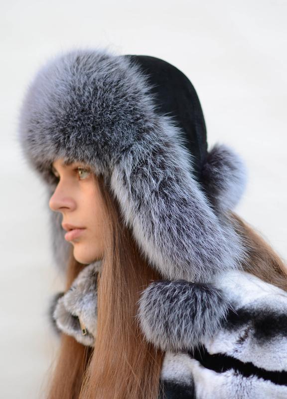 Женская шапка ушанка - Фото 2