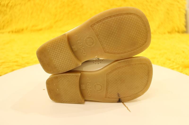 Кожаные белые ботиночки - Фото 3
