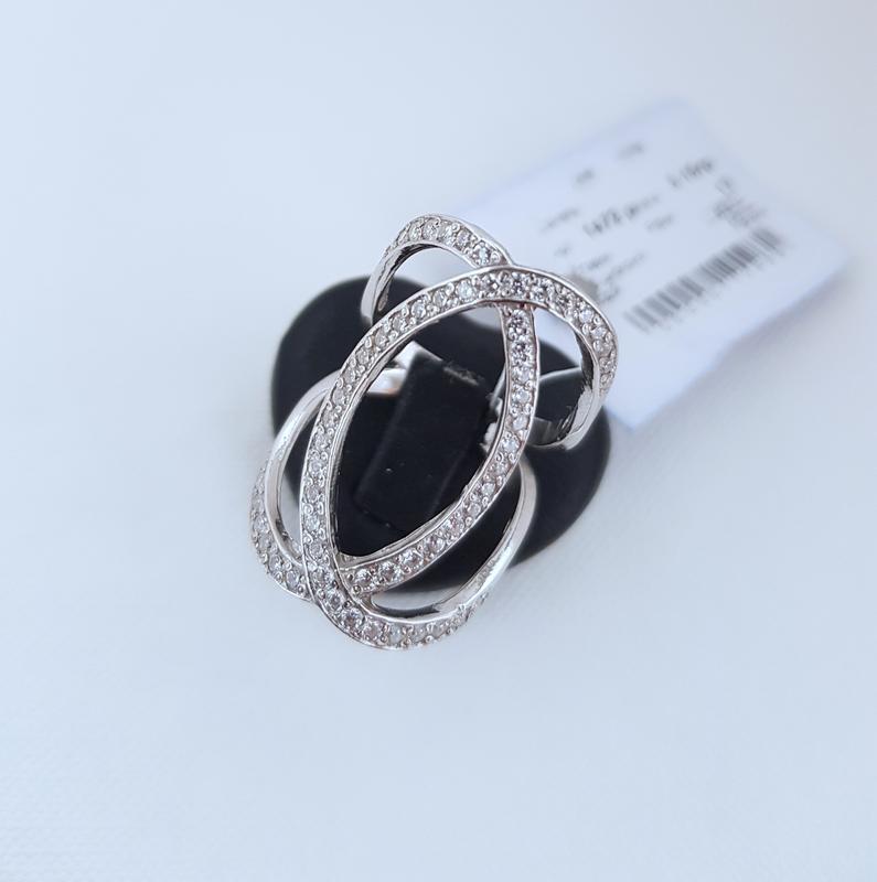 Серебряное кольцо в стиле шанель 925 проба