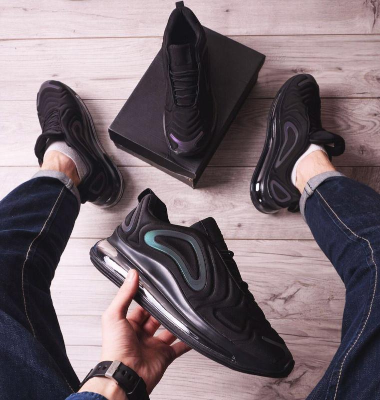 Мужские черные кроссовки Nike Найк - Фото 4