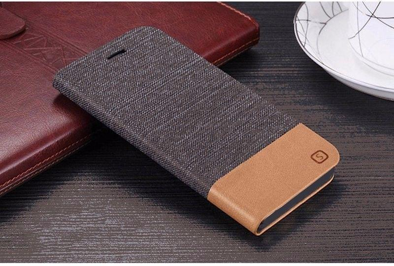 Чехол книжка для смартфона Xiaomi Redmi Note 4X brown - Фото 2