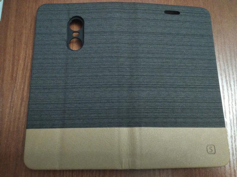 Чехол книжка для смартфона Xiaomi Redmi Note 4X brown - Фото 6