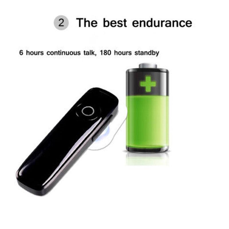 Bluetooth гарнитура беспроводная универсальная белая - Фото 4