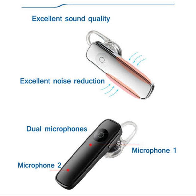 Bluetooth гарнитура беспроводная универсальная белая - Фото 7