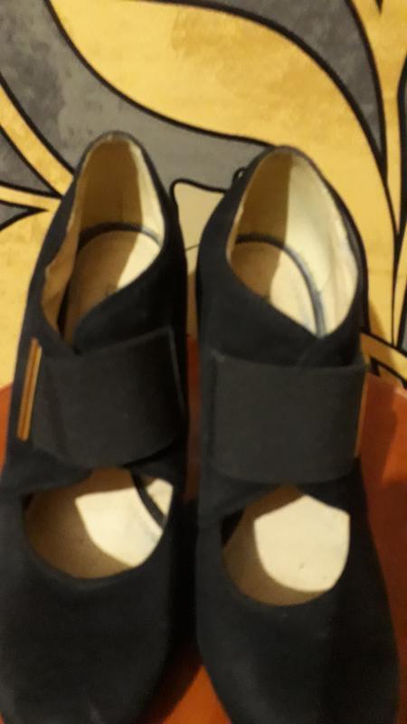 Туфли натуральный замш - Фото 4