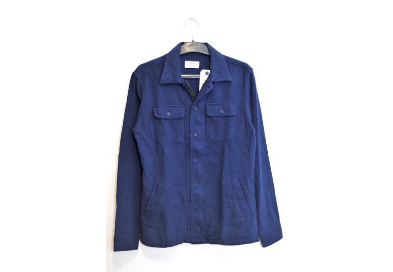 Jack&jones мужская стильная рубашка плотная с замком, как сорочка