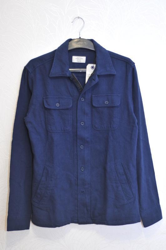 Core by jack&jones М, мужская рубашка теплая сорочка, молния