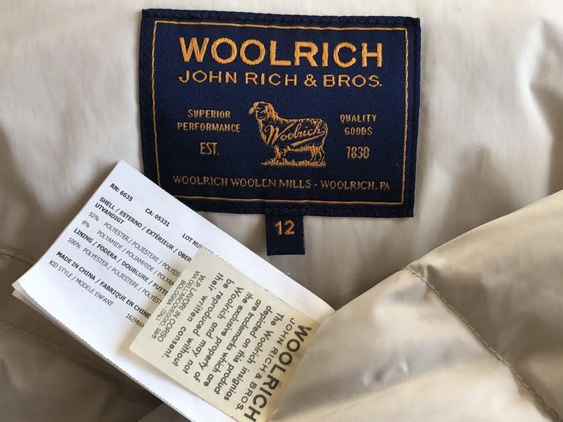 Теплый длинный зимний пуховик пальто парка woolrich  мех енота - Фото 5