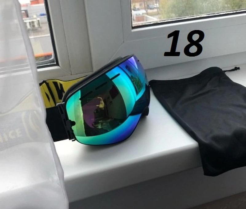 СНОУБОРД ЛЫЖНАЯ МАСКА очки лижні окуляри лижна горнолыжная - Фото 8