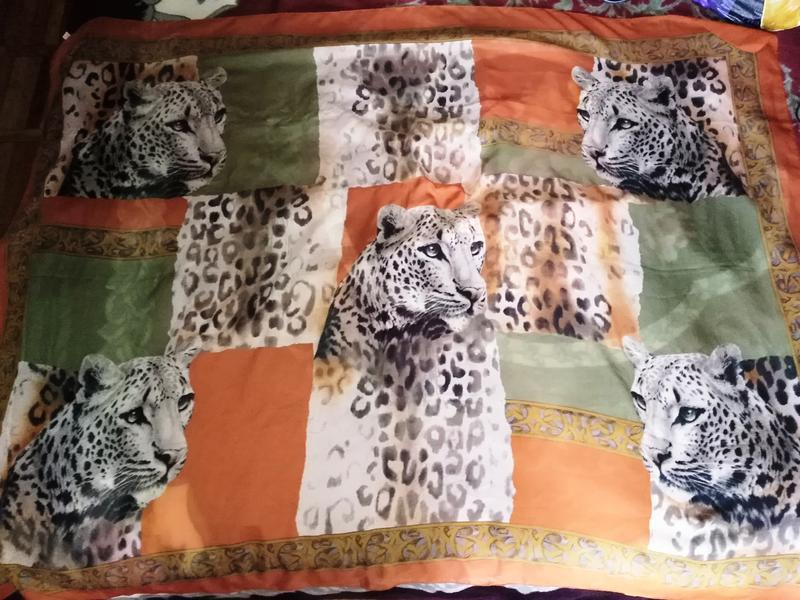 Парео, накидка леопард