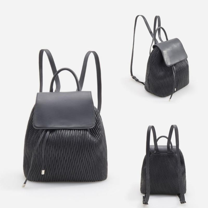 Черный рюкзак из эко кожи - Фото 3