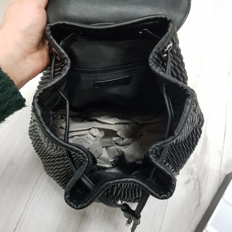 Черный рюкзак из эко кожи - Фото 6
