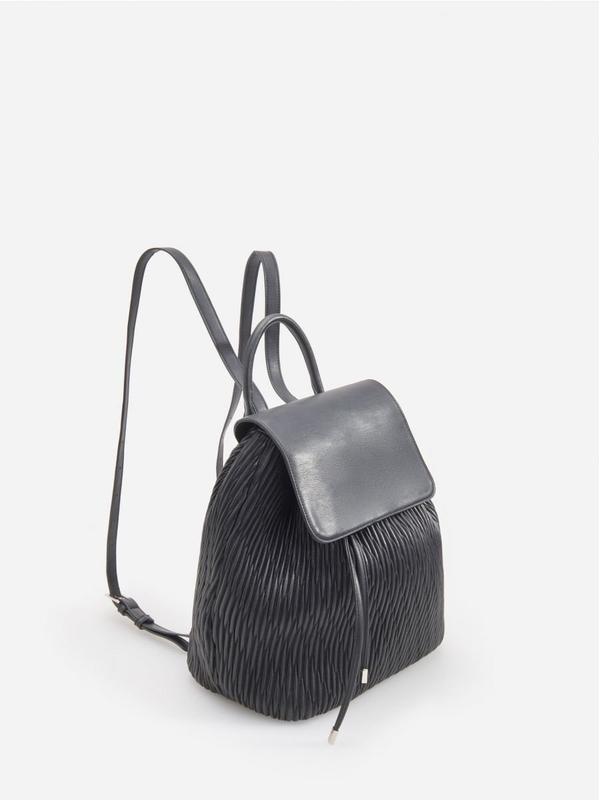 Черный рюкзак из эко кожи - Фото 2