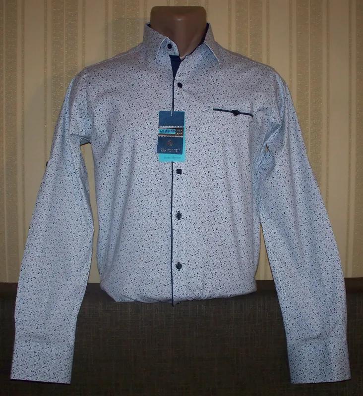 Рубашка трансформер приталенна юниорам 164,170,180 Турция - Фото 5