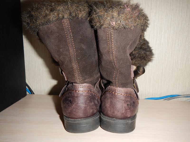 Сапоги next р.23 (5,14,5см) деми кожаные девочке - Фото 7