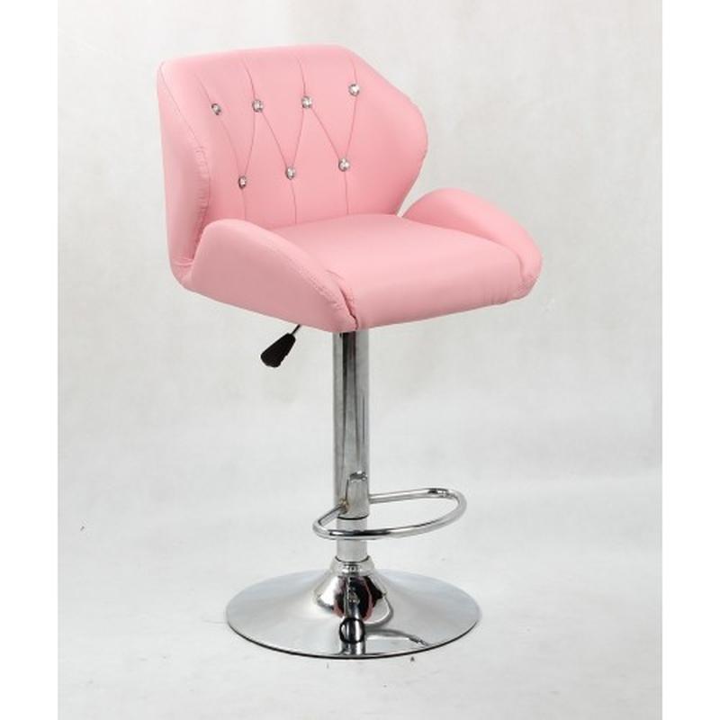 Стул барный НС-949W розовый