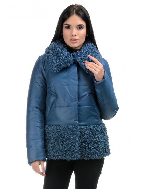 Стильная зимняя женская куртка прямого силуэта. размеры 44- 50