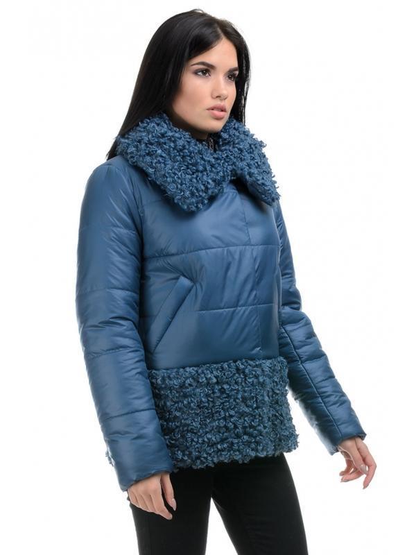 Стильная зимняя женская куртка прямого силуэта. размеры 44- 50 - Фото 2