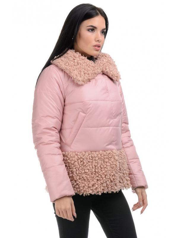 Стильная зимняя женская куртка прямого силуэта. размеры 44- 50 - Фото 4