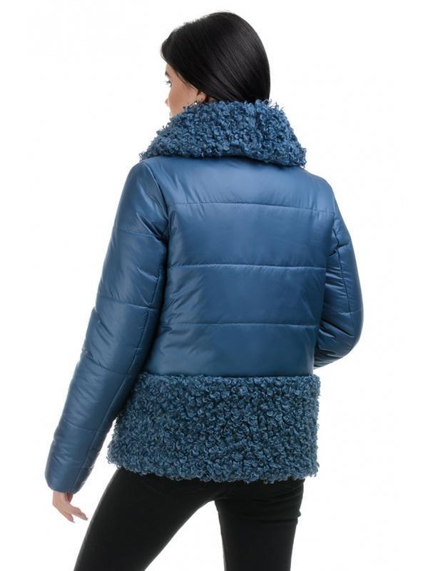 Стильная зимняя женская куртка прямого силуэта. размеры 44- 50 - Фото 5