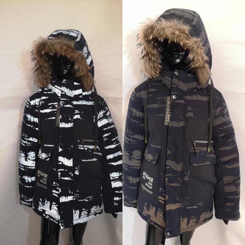 Светоотражающая зимняя куртка 128 134 140 146 152 рост