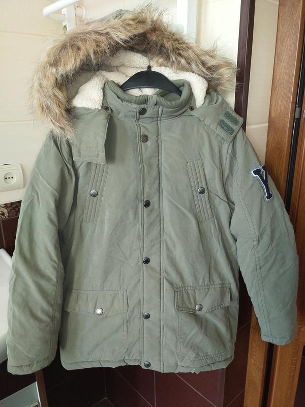 Новая зимняя куртка парка topolino размер 140 - Фото 2