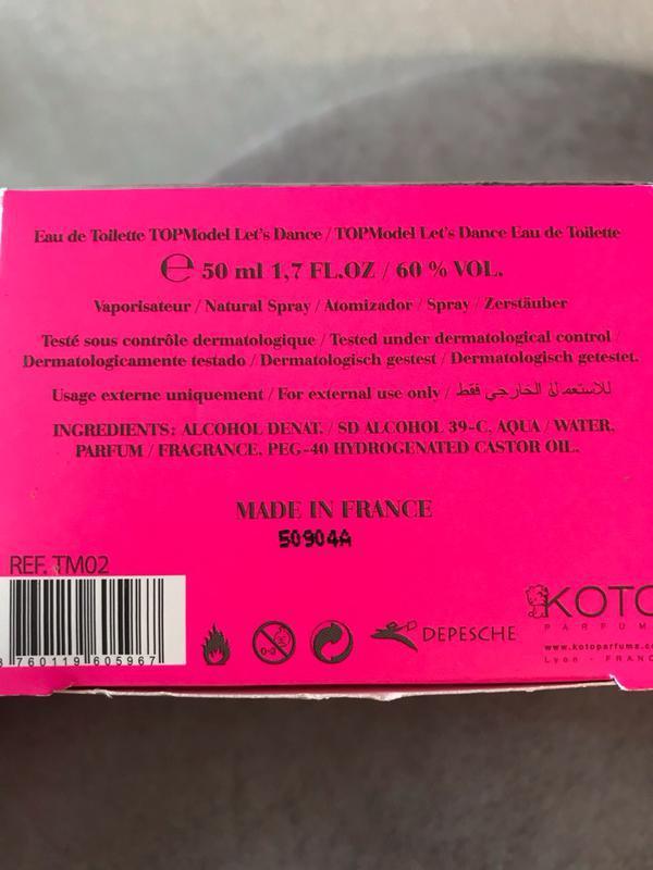 Духи туалетная вода koto parfums top model let s dance - Фото 3