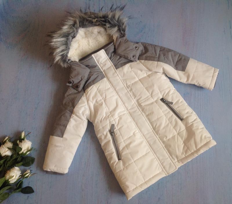 Зимняя куртка тм topolino topomini на 3 года рост 98 см - Фото 3